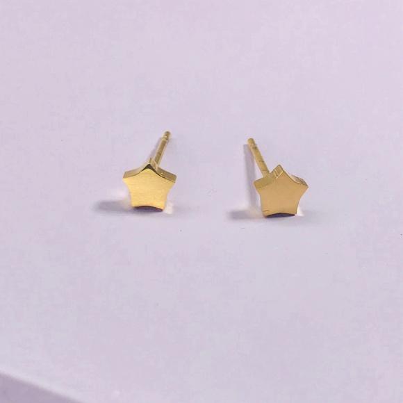CLOSET REHAB Jewelry - Gold Star Studs